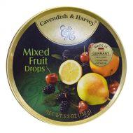 Cavendish & Harvey Tin Mixed Fruit Candy 5.3 oz