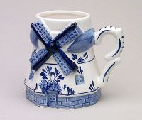 Mug Delft Blue Mill Shape 4.25 inch