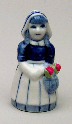 Figurine Dutch Girl with Tulips 2 inches tall