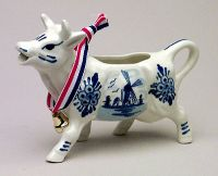Cow Creamer With Bell screen printed
