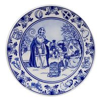 Plate Blue Sinterklaas