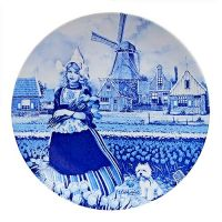 Plate Blue Tulip Girl