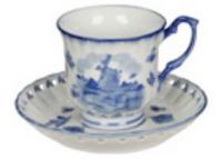 Tea or Coffee Cup+Saucer Mill Decoration