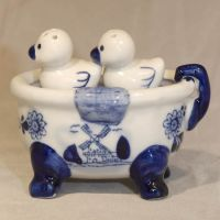 Salt + Pepper Ducks in Tub