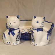 Salt & Pepper Cats in Basket