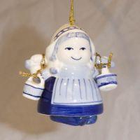 Xmas Ornament Delft Milkmaid 3.5x2.25inch