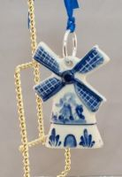 Xmas Ornament Delft Mill 2.5inch