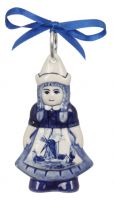 Dutch Girl Ornament 3 3/4 inches tall
