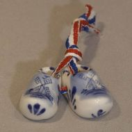 Delft Blue Clogs 4cm/1.78 inches