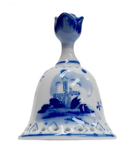 Bell Delft Blue Mill Design Tulip Top 3.2 inches