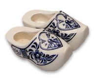 Magnet 2 Wooden Shoes Delft Blue