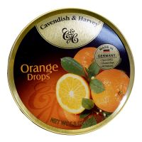 Cavendish & Harvey Tin Orange Candy 5.3oz