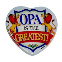 Heart Magnet Opa is the Greatest