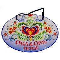 Door Sign Oma & Opa's Home Lovebirds