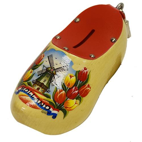 Wooden Shoe Savingsbank Varnished