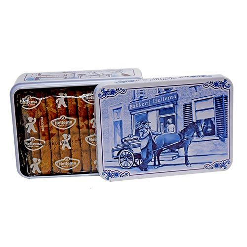 Small Tin with 4.7 oz Speculaas Cookies