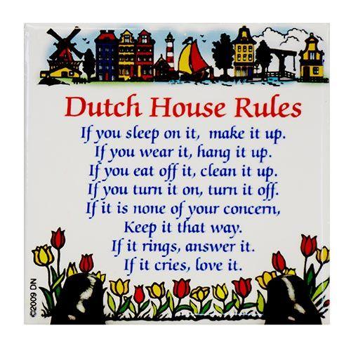 Magnet Tile Dutch House Rules