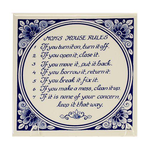 Tile Mom's House Rules