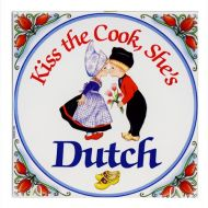 Tile Color Kiss the Cook, She's Dutch